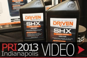PRI 2013: Driven Racing Oil Releases New Break-in, Shock, Gear Fluid