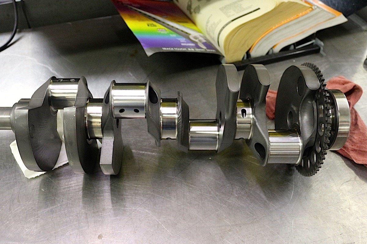 Measurements Are Constantly Made Throughout The Blueprinting Process Shown From Left Checks On Main Bearings Deck Height And Crankshaft