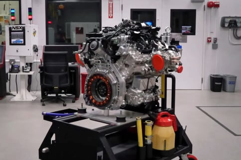 A Look Inside The Acura NSX's 500-Horsepower 3.5L Twin-Turbo V6